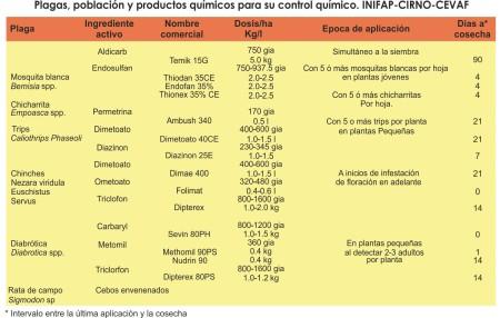 2015 FRIJOL - Plagas y productos quimicos para control