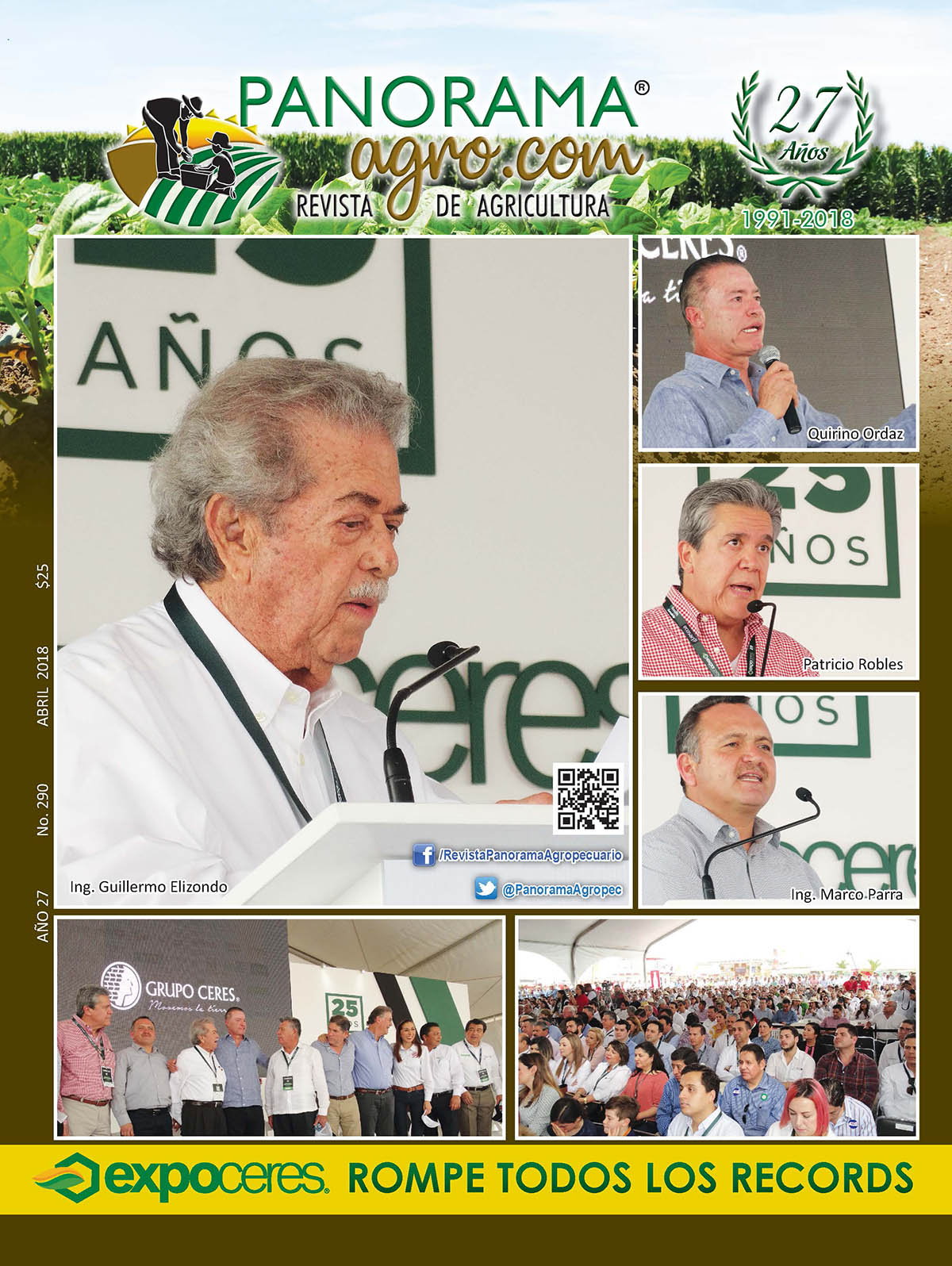 Portada Revista Panorama Agropecuario / Abril 2018